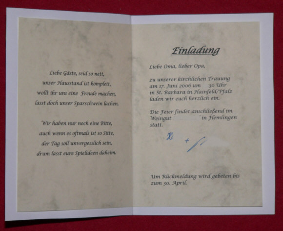 einladung sektempfang hochzeit – kathyprice, Einladungsentwurf